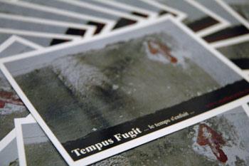carte postale du livre de photographies et nouvelles Tempus Fugit de makuramis